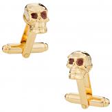 Skull Cufflinks in Gold
