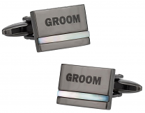 Groom Cufflinks with Mother of Pearl