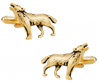 Gold Wolf Cufflinks