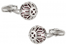 Swarovski Crazy Pearl Cufflinks in Burgundy