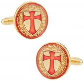 Knights of Templar Gold Cufflinks | Canada Cufflinks